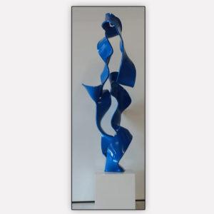 Lopomo, Escultura Polipropileno Azul, 98cm